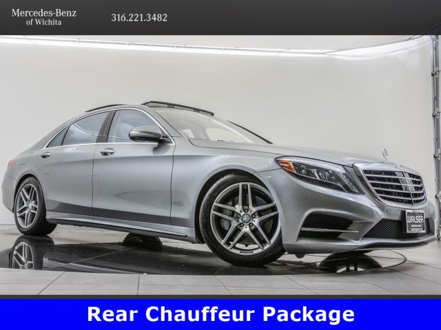 Pre-Owned 2015 Mercedes-Benz S-Class S 550 4MATIC®, Rear Chauffeur Package  With Navigation & AWD