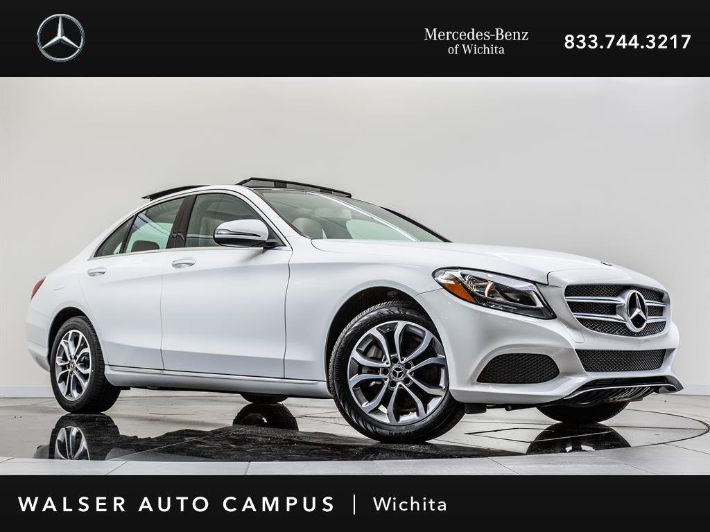 Ex-CVP 2018 Mercedes-Benz C-Class C 300 4MATIC Rearview Camera, Panorama Roof AWD
