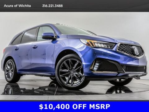 Pre-Owned 2019 Acura MDX MDX Tech A-Spec SH-AWD, BT, Blnd Spt, Nav With  Navigation & AWD